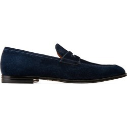 Bally Men's Westminster Webb Suede Penny Loafers - Ink - Size 8.5 found on MODAPINS from Saks Fifth Avenue for USD $297.50