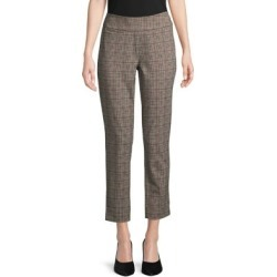 Plaid Slimming Ankle Pants