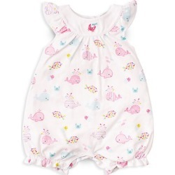 Kissy Kissy Baby Girl's Whale Of A Time Printed Romper - Fuchsia - Size 9 Months