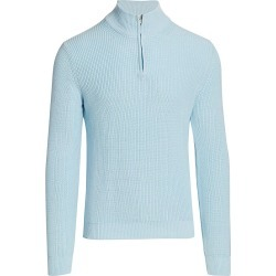 Saks Fifth Avenue Men's COLLECTION Solid Quarter-Zip Sweater - Iced Aqua - Size XXL found on Bargain Bro India from Saks Fifth Avenue for $268.00