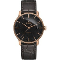 Coupole Classic Black Stainless Steel & Leather Strap Automatic Watch