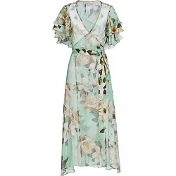 Adriana Iglesias Women's Aman Silk Belted Robe Dress - Mint Leopard Orchid - Size 42 (10) found on MODAPINS from Saks Fifth Avenue for USD $783.00