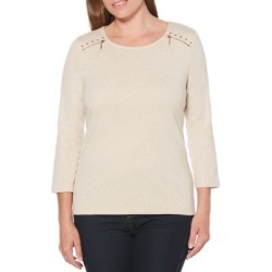 Three-Quarter-Sleeve Cotton Top found on Bargain Bro India from Lord & Taylor for $10.32