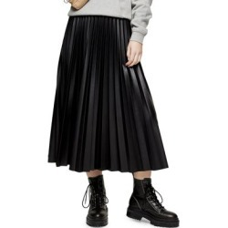 Pleated Faux Leather Midi Skirt found on Bargain Bro Philippines from The Bay for $56.00