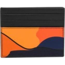 Valentino Garavani Camouflage Leather Mixed Media Card Holder