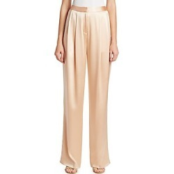 Adam Lippes Women's Silk Charmeuse Pleat Front Pants - Peach - Size 4 found on MODAPINS from LinkShare USA for USD $317.49