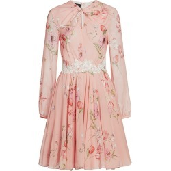 Giambattista Valli Women's Floral Keyhole Long Sleeve Silk Dress - Cipria Blush - Size 38 (2) found on MODAPINS from Saks Fifth Avenue for USD $3680.00