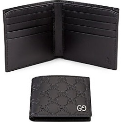 653d0ac4181 Gucci Men s Embossed GG Leather Bifold Wallet - Black found on MODAPINS  from Saks Fifth Avenue