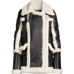 Nicole Benisti Women's Montmartre Shearling Aviator Down Puffer-Back Jacket - Black White - Size Medium found on MODAPINS from Saks Fifth Avenue for USD $2900.00