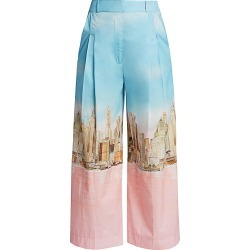 Lela Rose Women's NYC Skyline Cotton Poplin Trousers - Skyline - Size 4 found on MODAPINS from Saks Fifth Avenue for USD $296.99