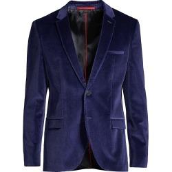HUGO Men's Extra-Slim Fit Arti Velvet Jacket - Blue - Size 34 found on MODAPINS from Saks Fifth Avenue for USD $197.99