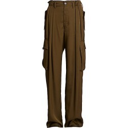 Dries Van Noten Women's Pleated Full-Leg Cargo Pants - Khaki - Size 38 (6-8) found on Bargain Bro Philippines from Saks Fifth Avenue for $760.00
