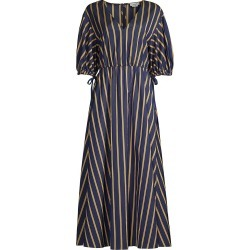 Jason Wu Women's Balloon-Sleeve V-Neck Dress - Spring Navy Multi - Size 4 found on MODAPINS from Saks Fifth Avenue for USD $595.00