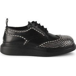 Alexander McQueen Men's Studded Brogue Hybrid Shoes - Black Silver - Size 42 (9) found on MODAPINS from Saks Fifth Avenue for USD $850.00