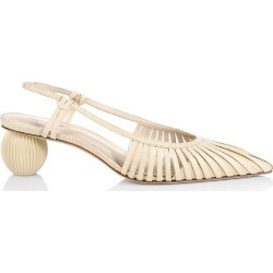 Cult Gaia Women's Alia Bauble-Heel Slingback Pumps - Natural - Size 8.5 found on MODAPINS from Saks Fifth Avenue for USD $358.00