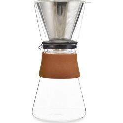 Grosche Amsterdam Pour Over Coffee Maker and Stainless Steel Filter - Silver