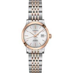 Longines Men's Record 30MM Stainless Steel & 18K Pink Gold Automatic Bracelet Watch - White found on MODAPINS from Saks Fifth Avenue for USD $2850.00