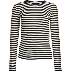 Akris punto Women's Elements Tricolor Striped Knit - Black Cream - Size 12