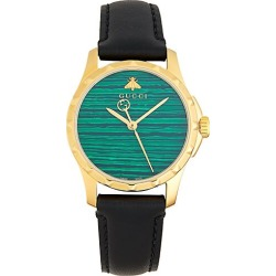Goldtone Stainless Steel & Leather-Strap Watch