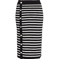 Altuzarra Women's Striped Button-Up Skirt - Black Ivory - Size Large found on MODAPINS from Saks Fifth Avenue for USD $595.00