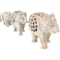 Anaya Marble Hand-Carved 4-Piece Elephant Family found on Bargain Bro India from Saks Fifth Avenue for $250.00