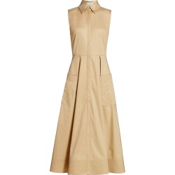 Co Women's Essentials Poplin Midi Dress - Taupe - Size Large found on MODAPINS from Saks Fifth Avenue for USD $625.00