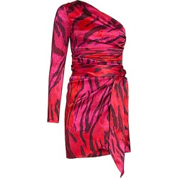 Adriana Iglesias Women's Candela One-Shoulder Stretch-Silk Dress - Magenta Feline - Size 38 (6) found on MODAPINS from Saks Fifth Avenue for USD $900.00