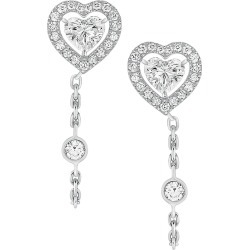 Messika Women's Joy Coeur 18K White Gold & Diamond Chain Earrings - White Gold found on Bargain Bro from Saks Fifth Avenue for USD $2,918.40