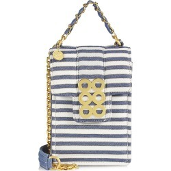 Kooreloo Women's Cinque T Erre Alassio Vi Circles Crossbody Bag - Gold Blue Stripes found on MODAPINS from Saks Fifth Avenue for USD $395.00