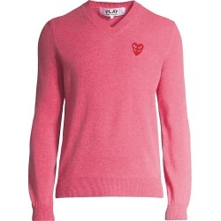 Comme des Garcons Play Men's Play Double Heart V-Neck Pullover - Pink - Size Large found on MODAPINS from Saks Fifth Avenue for USD $394.00