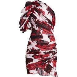 Alexandre Vauthier Women's Floral One-Shoulder Mini Dress - Cherry - Size 34 (2) found on MODAPINS from Saks Fifth Avenue for USD $1181.25