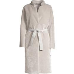 Metallic Faux-Fur Coat