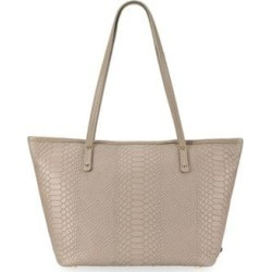 Taylor Mini Zip Python-Embossed Leather Tote Bag