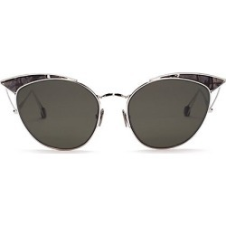 Ahlem Women's Place Violet 53MM Cat-Eye Sunglasses - White Gold Grey found on MODAPINS from Saks Fifth Avenue for USD $470.00
