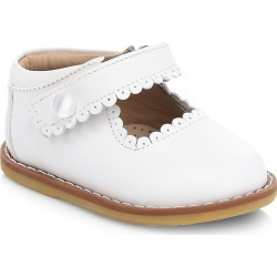 Elephantito Baby Girl's Scallop Leather Mary Jane Flats - White - Size 19 EU (4 Baby US) found on Bargain Bro from Saks Fifth Avenue for USD $47.12