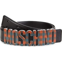 Moschino Men's Plaid Logo Leather Belt - Red Plaid - Size 60 (44) found on Bargain Bro Philippines from Saks Fifth Avenue for $340.00