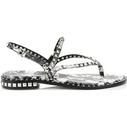 Ash Women's Peps Studded Floral-Print Leather Thong Sandals - Black White - Size 35 (5) found on MODAPINS from Saks Fifth Avenue for USD $198.00