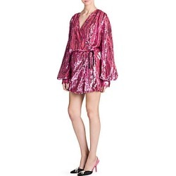 Attico Women's Sequin Robe Mini Dress - Pink - Size 44 (10) found on MODAPINS from Saks Fifth Avenue for USD $1355.60