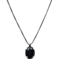 Sterling Silver & Oval Black Onyx Pendant Necklace found on Bargain Bro Philippines from Saks Fifth Avenue OFF 5TH for $179.40