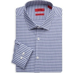 Hugo Hugo Boss Men's Mabel Sharp-Fit Check Dress Shirt - Navy - Size 16.5 R found on MODAPINS from Saks Fifth Avenue OFF 5TH for USD $69.99