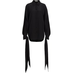 Nina Ricci Women's Silk Crepe de Chine Tie-Cuff Shirt - Black - Size 4 found on MODAPINS from Saks Fifth Avenue for USD $787.50