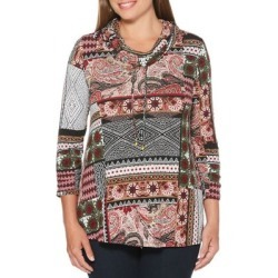 Patchwork Cowlneck Top found on Bargain Bro India from Lord & Taylor for $13.92
