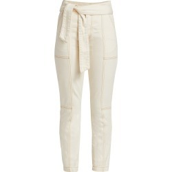 Jonathan Simkhai Women's Henley Tie-Waist Seamed Pants - Natural - Size Denim: 26 found on MODAPINS from Saks Fifth Avenue for USD $295.00