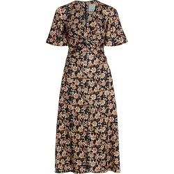 Acler Women's Tippet Floral Flutter-Sleeve Midi Dress - Midnight Wallpaper - Size 4 found on MODAPINS from Saks Fifth Avenue for USD $330.00