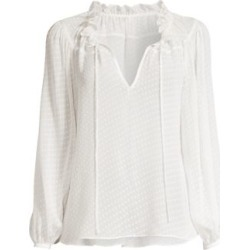 Ruffled Swiss Dot Peasant Blouse found on Bargain Bro India from Saks Fifth Avenue AU for $115.24