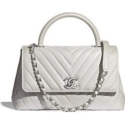Chanel Flap Bag With Top Handle - White found on Bargain Bro Philippines from Saks Fifth Avenue for $4000.00