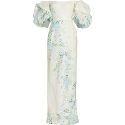Monique Lhuillier Women's Floral Puff-Sleeve Gown - Ivory - Size 8 found on MODAPINS from Saks Fifth Avenue for USD $3895.00