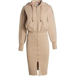 NSF Women's Luq Hooded Zip Sweatshirt Dress - Bisquet - Size Large found on MODAPINS from Saks Fifth Avenue for USD $295.00
