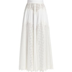 Lela Rose Women's Diamond Eyelet Full Maxi Skirt - White - Size 10 found on MODAPINS from Saks Fifth Avenue for USD $950.00