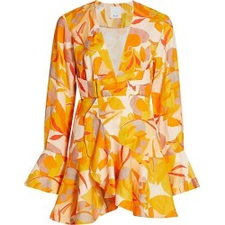 Acler Women's Corsica Floral Wrap Mini Dress - Golden Abstract - Size 6 found on MODAPINS from Saks Fifth Avenue for USD $132.00